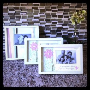 3 Sets of Picture Frames
